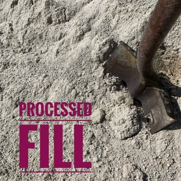 Processed Fill Dirt