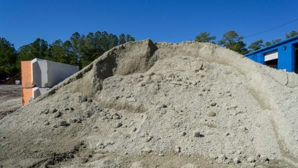 mound of processed fill dirt